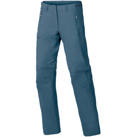 VAUDE Farley Stretch Zip-Off T-Zip Pants Women, blue grey